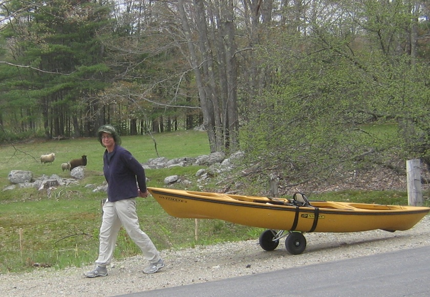 Portaging to Biscay Pond May 14 cropped